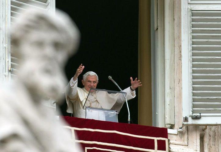 El Papa durante su mensaje dominical previo a la bendición con el Angelus. (Agencias)