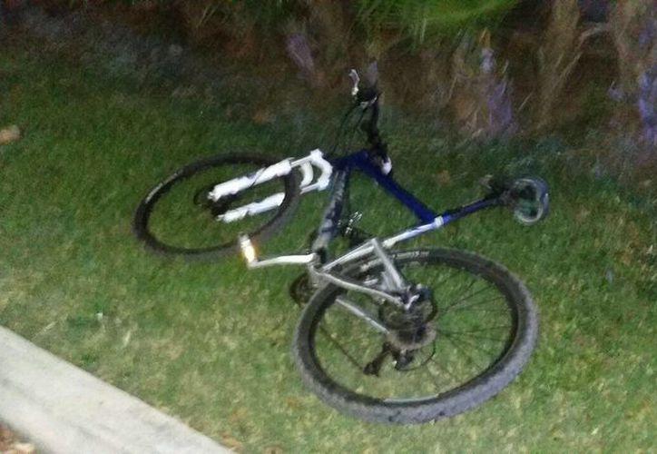 La bicicleta fue llevada al corralón. (Redacción/SIPSE)