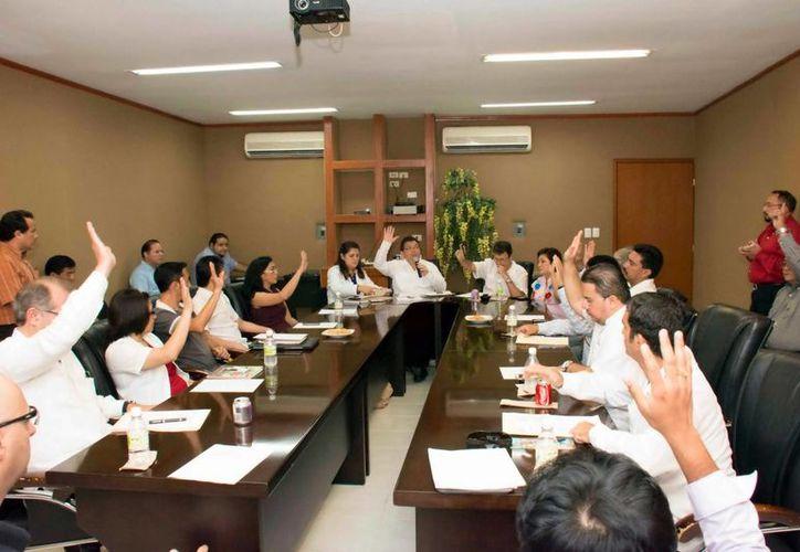 Miembros del comité al tomar protesta. (Milenio Novedades)