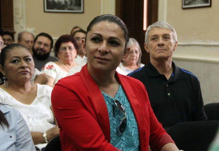 La senadora perrredista Ana Gabriela Guevara estuvo de visita en Yucatán. (José Acosta/SIPSE)