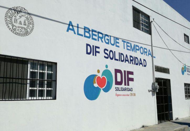 El albergue temporal se ubica sobre la calle 44 norte, en la colonia Zazil-Ha.  (Adrián Barreto/SIPSE)