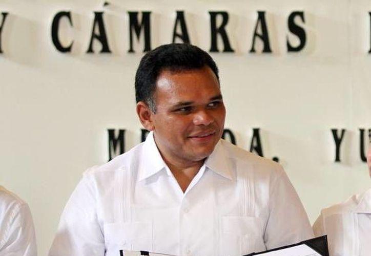 Rolando Zapata dijo que hay seguridad para los que visitan Yucatán. (Milenio Novedades)