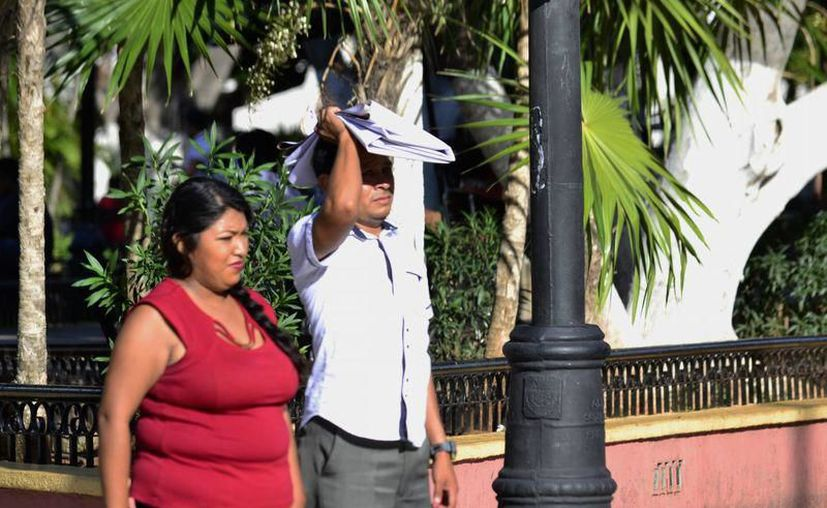 El calor se hizo presente este sábado en la entidad. (Novedades Yucatán)