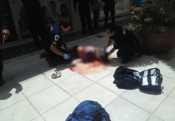 La Policía Municipal atendió al lesionado. (Milenio Novedades)