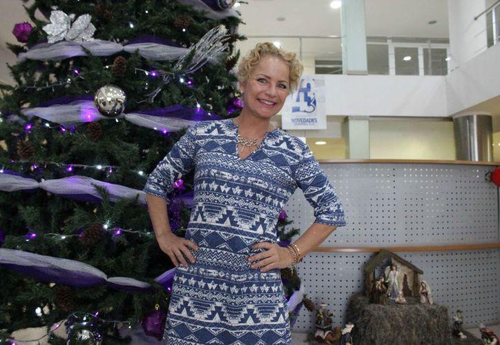 La actriz dijo estar disfrutando del destino turístico. (Faride Cetina/SIPSE)