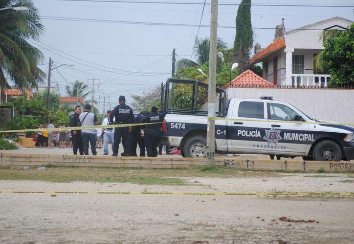 El asesinato se registró en un domicilio de la Región 230. (Eric Galindo/SIPSE)