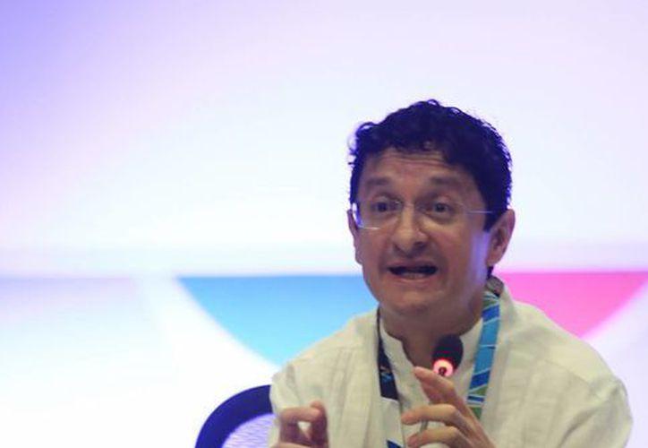 Virgilio Andrade Martínez durante una conferencia en la Reunión Ministerial de la OCDE. (Luis Soto/SIPSE)
