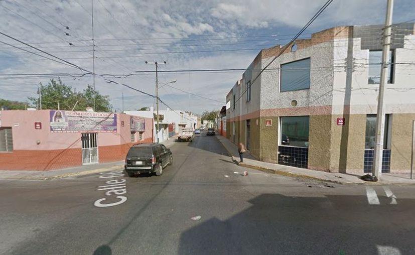 Los cruzamientos del centro de Mérida donde se habrían subido los dos asaltantes. (Google Maps)