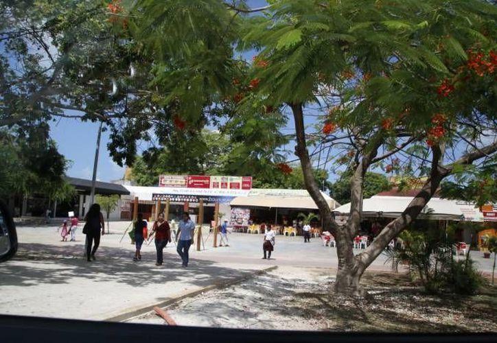 La parte del andador que abarca de la avenida Cobá hasta el Palacio Municipal albergará los eventos artísticos. (Archivo/SIPSE)