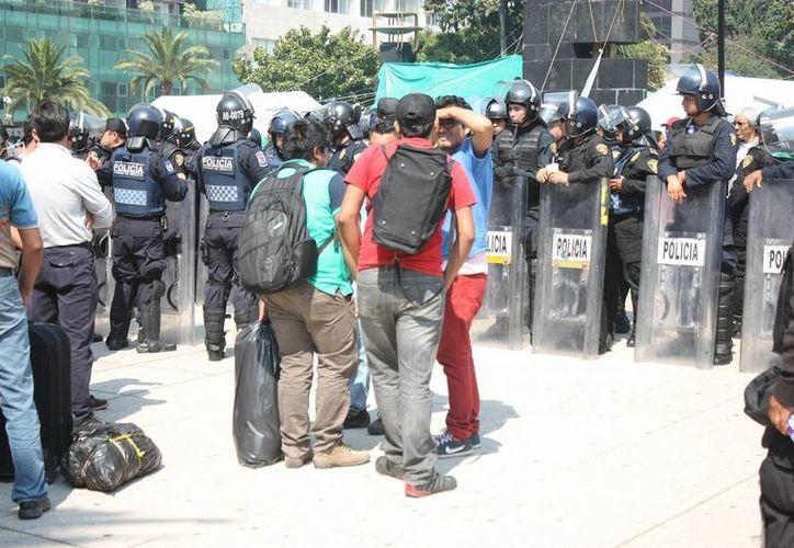 El 70% de los paristas de la CNTE regresarán a dar clases este miércoles, pero el 30% se quedará en la Ciudad de México (foto). (Notimex)