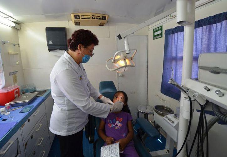 Realizan la revisión de tejidos bucales, de higiene de prótesis y aplicaciones tópicas, entre otras. (Foto: Redacción)