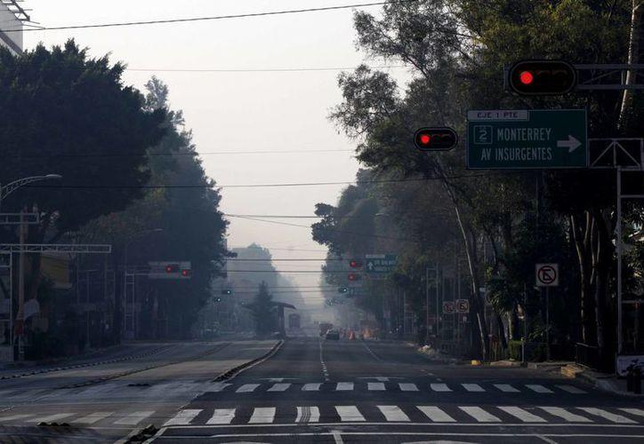 Este miércoles se contabilizaron 136 puntos Imeca en algunas zonas del Valle de México. (Notimex)