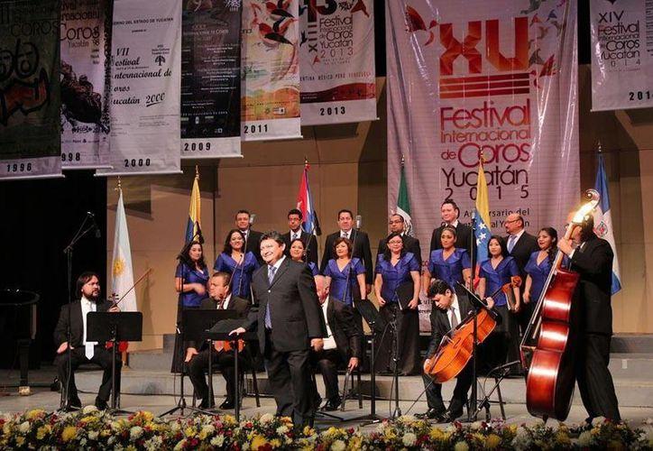 En noviembre próximo ampliará sus alcances el Festival Internacional de Coros. En la foto, la edición del año pasado. (SIPSE)