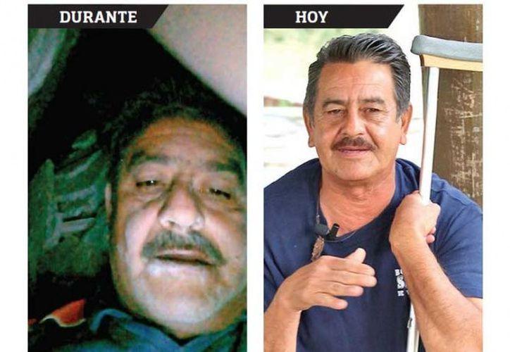 Don Martín fue una de las personas rescatadas tras el sismo del 19 de septiembre de 2017; se tomó una foto bajo los escombros con la intención de que lo reconocieran. (Excélsior)