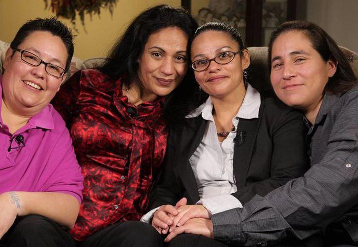 Elizabeth Ramírez, Kristie Mayhugh, Casandra Rivera y Anna Vásquez fueron declaradas inocentes de agredir sexualmente a dos niñas, en Texas. (nbcnews.com)