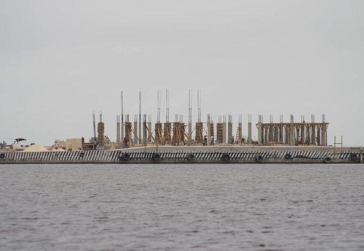 Invierten 18 millones de pesos para la construcción de la Terminal Marítima Internacional. (Harold Alcocer/SIPSE)