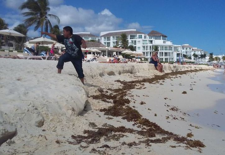 Vecinos señalan que han visto a trabajadores realizando trabajos de acarreo de arena en Playacar. (Foto: Daniel Pacheco)