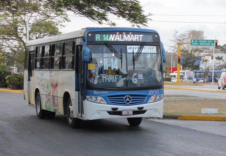 Las empresas de transporte cobrarán seis pesos en la zona urbana. (Jesús Tijerina/SIPSE)