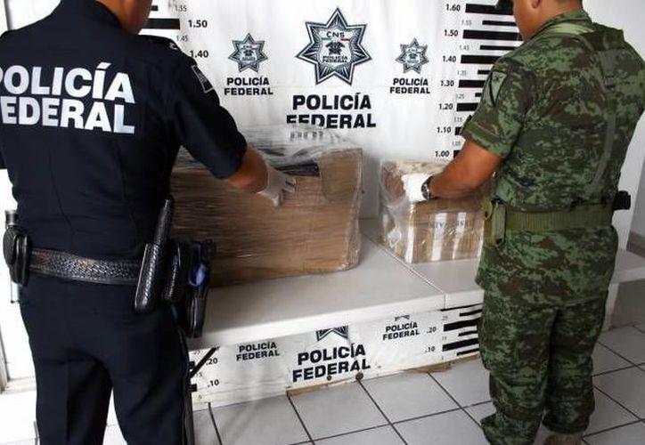 En Yucatán, las fuerzas armadas han decomisado alrededor de 145 kilos de marihuana, 70 dosis de hachís y cocaína. (SIPSE)