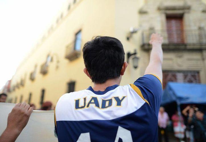 La huelga en la Uady cumple este viernes 15 días. (Luis Pérez/SIPSE)