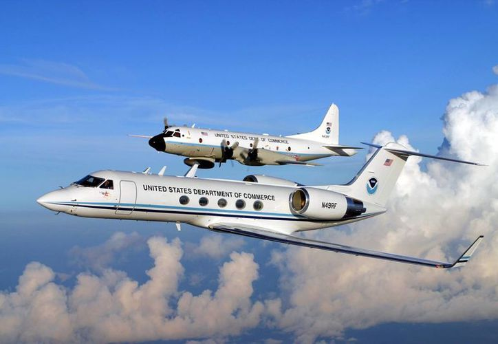 La aeronave de la NOAA estará el 5 de mayo en Manzanillo, el martes 6 en Zihuatanejo y el miércoles en Huatulco.          (noaanews.noaa.gov)