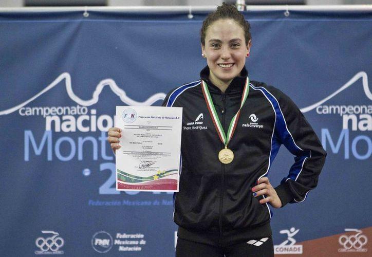 Según el portal de natación swimswam.com, México registró a nadadores con marcas falsas para asistir al Campeonato Mundial de Natación 2015, en la foto Sharo Rodríguez, nadadora mexicana. (noticiasnv.wordpress.com)