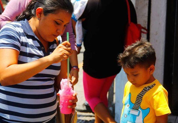 Las condiciones del clima no pudieron ser mejores para iniciar la temporada vacacional: calor y pocas probabilidades de lluvia. El calor en Mérida, de hasta 36 grados, obligó a muchos meridanos a tomar algo 'helado'. (Juan C. Albornoz/SIPSE)