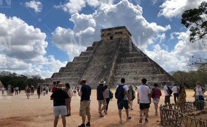 Este domingo se notó una baja afluencia de visitantes en Chichén Itzá. (SIPSENoticias)