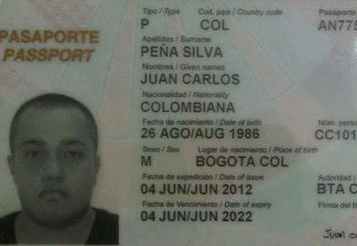 Juan Carlos Peña Silva, de 26 años, fue capturado por funcionarios de la Oficina Nacional Antidrogas (ONA).(centraldenoticiavenezuela.blogspot.mx)