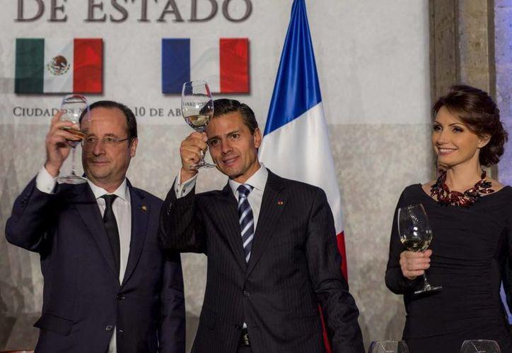Francois Hollande propuso a Peña Nieto recuperar el espíritu de los tiempos de De Gaulle. (presidencia.gob.mx)