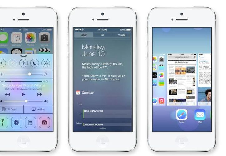 La nueva interfaz de iOS incorpora una de las tipografías más usadas, Helvetica. (Foto: Apple)