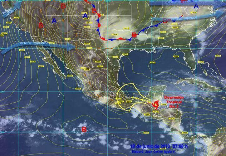 Soplarán vientos variables de 30 a 50 km/h con rachas de 65 km/h. (Cortesía/SIPSE)