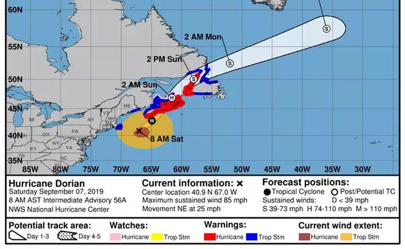 La tormenta se encuentra a 230 kilómetros al sureste de Nantucket, en Massachusetts, EEUU. (Foto: NHC)