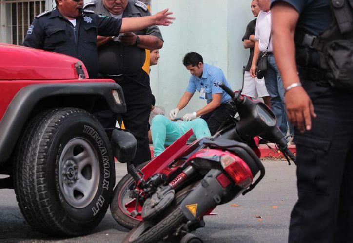 El objetivo es crear conciencia en la población para reducir el índice de accidentes de transito. (Gustavo Villegas/SIPSE)