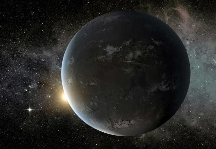 En la imagen se puede ver la recreación realizada por la NASA del planeta Kepler-62f.  (NASA)