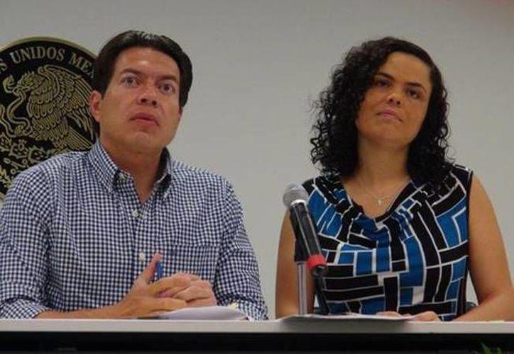 El presidente y la secretaria de la Comisión del Distrito Federal reconocieron que se han afinado los acuerdos para votar ante el pleno esta reforma. (Angélica Mercado)