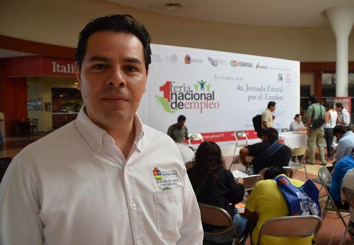 Enrique González Contreras, coordinador general del Servicio Estatal del Empleo. (Yenny Gaona/SIPSE)