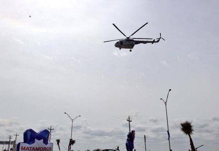 El ataque se registró durante las labores de vigilancia aérea de la Marina en Matamoros. (Twitter.com/@Martinez1MX)