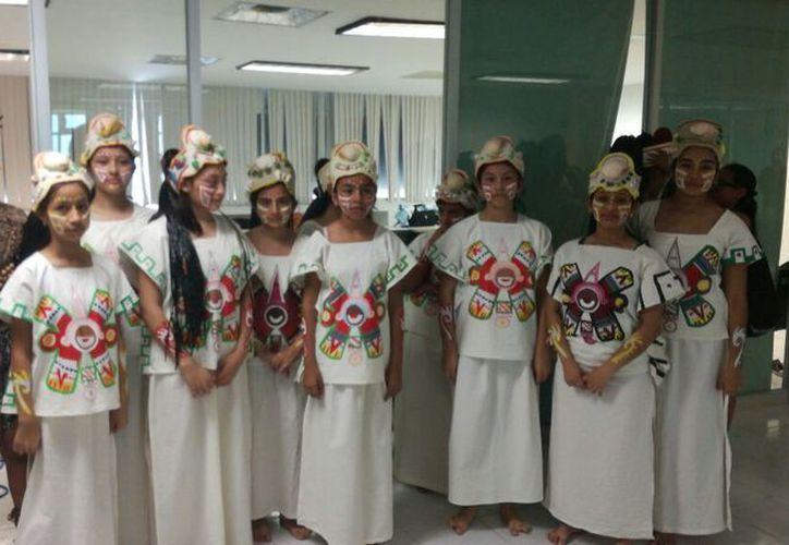 Los menores realizaron una presentación en las instalaciones de la Secretaría de Educación de Quintana Roo. (Jesús Tijerina/SIPSE)