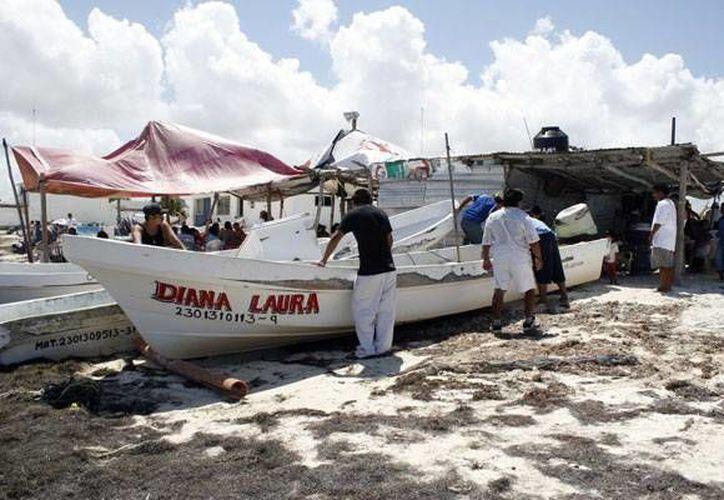 Son 139 proyectos aprobados, en apoyo de 383 embarcaciones de varias entidades. La imagen es de pescadores de Quintana Roo. (Archivo/SIPSE)