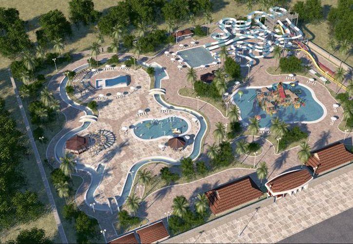 El parque acuático tendrá un multijuegos con más de 10 toboganes y muchas más atracciones. (Milenio Novedades)