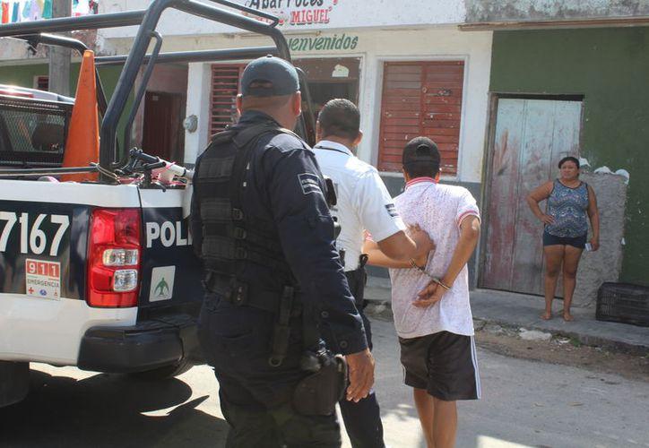 Fue resguardado en las instalaciones de la policía municipal. (Foto: Redacción)