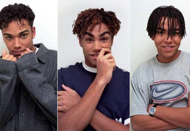 De i a d: Taryll Jackson, TJ y Taj, quienes demandaron a un tabloide por insinuar que su tío Michael Jackson abusó de ellos y luego los sobornó. (Foto: Cordon, tomada de elmundo.es)