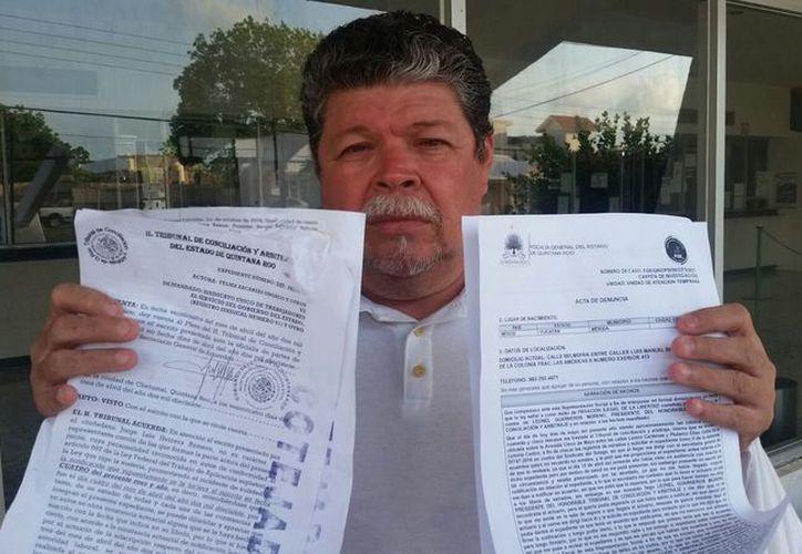 El agraviado comentó que el problema deriva de una molestia del presidente del Tribunal en Chetumal. (Benjamín Pat/SIPSE)