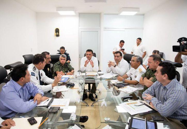 Autoridades de los tres niveles de Gobierno presentan sus propuestas de seguridad al gobernador Rolando Zapata Bello, cada mes. (Milenio Novedades)