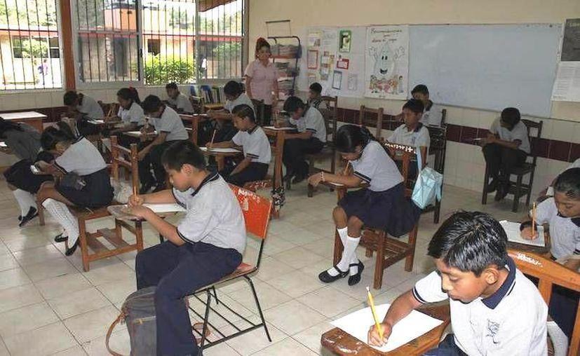 Las escuelas donde sí jabrá clases los días 24 y 25 de febrero es porque acudieron a clases el pasado 25 de enero y también tendrán actividad el 29 de febrero. (Foto archivo SIPSE)
