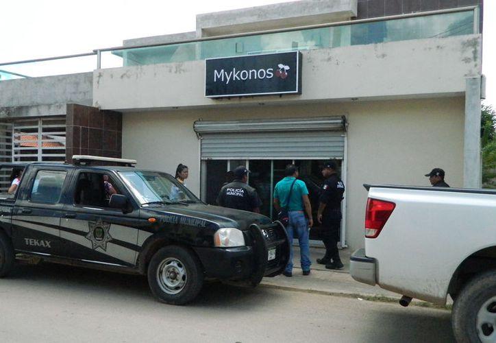 """La tienda """"Mykonos"""" de Tekax fue visitada por los amantes de lo ajeno. (Foto: Milenio Novedades)"""