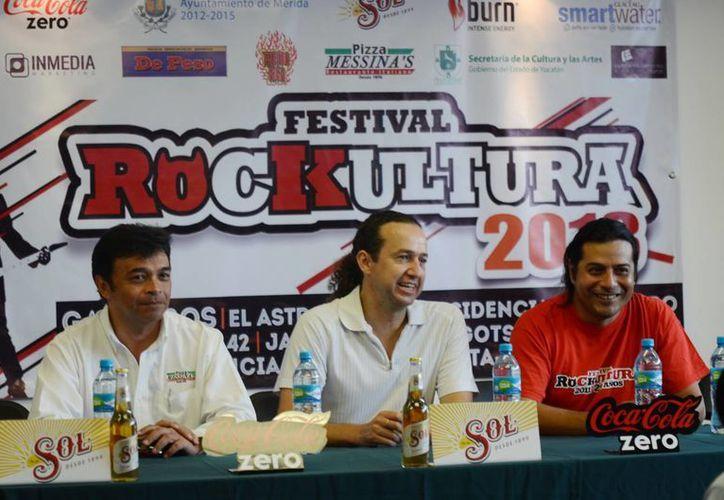 En la rueda de prensa del festival confirmaron la participación 11 bandas locales y nacionales. (SIPSE)