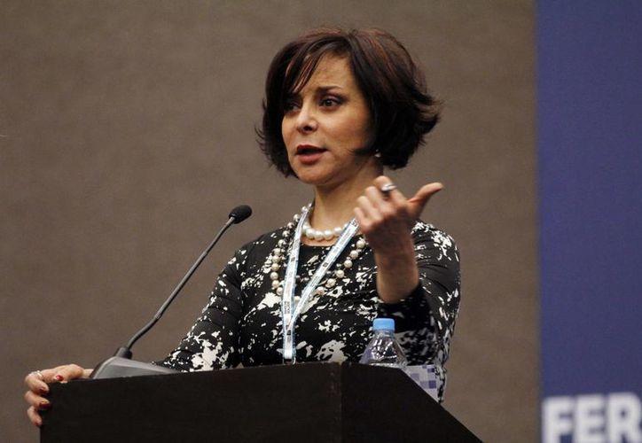 'Ya nos sacamos la lotería', dijo la diputada Purificación Carpinteyro al proponer el negocio de telecomunicaciones. (Notimex)