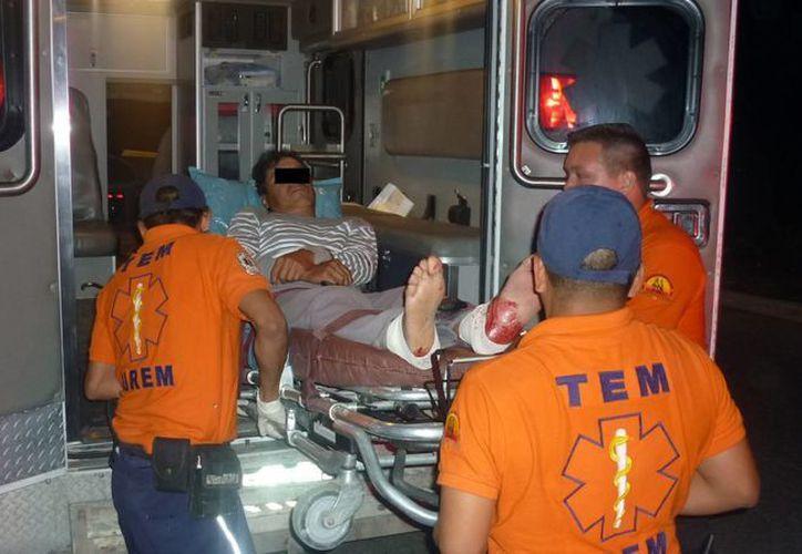 La acción policíaca puso en riesgo la vida de los campesinos Roberto López Cruz y José Luis Rodríguez Lorenzo. (Redacción/SIPSE)